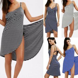 Plus Size Home Textile Towel Women Robes Bath Wearable Stripe Towel Dress Girls Fast Drying Beach Spa Magical Nightwear Sleeping