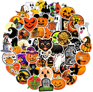 Funny Halloween Stickers Pack, Waterproof Vinyl Decal Stickers for Skateboard Water Bottle Laptop Computer Phone Party Favors, 50Pcs