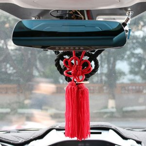 JP Junction Produce Kin Tsuna Rope Red Fusa Kiku Knot For Car Rearview Mirror Ornaments Chinese Mascot Lucky Charms