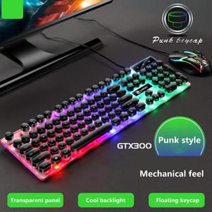 جديد GTX300 فاسق وحة المفاتيح والفأرة مجموعة USB السلكية واجهة الصمام لوحة مفاتيح الألعاب الإضاءة الخلفية 3D الماوس مناسبة لأجهزة الكمبيوتر المحمولة سطح المكتب
