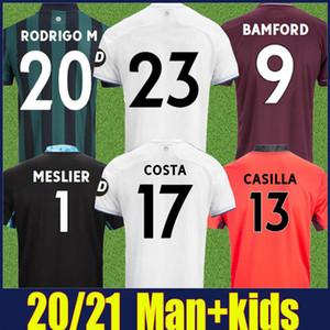 Männer und Kinder 20 21 Leeds Home Fussball Jersey United T Roberts 2020 2021 Harrison Costa Alioski Klich Hernandez Bamford Clarke Soccer Jerseys