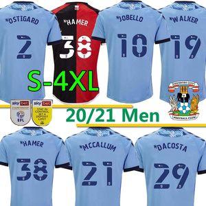 2020 21 Coventry City Soccer Jerseys Jobello Godden Ostigard Walker Da Costa Hamer Home قمصان كرة القدم الأزرق تايلاند الرجال زي S-4XL