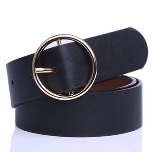 Badinka 2020 Новый Дизайнерские Круглый металлический круг Waistband пояса дамы Широкий Белый Черный Желтый Pu Кожезаменитель талии ремни для женщин