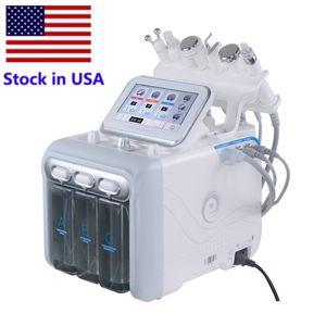 Stock en EE. UU. 6In1 Hydra Máquina facial RF Piel Rejuvenaiton Microdermabrasión Hydro Dermabrasion Remoción de arrugas Hydro Máquina Facial