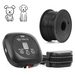 Pet Electronic Barrier Fence System For Dog With Rechargeable Waterproof Vibration Beep Training Collar Pet Fencing System