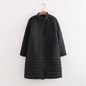 OLGITUM 2019 des femmes de coton léger hiver printemps manteau de veste, plus longue, plus la taille de graisse CC567
