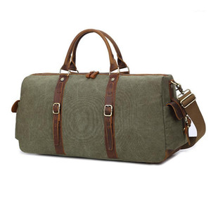 Mens Canvas Duffle Bag Big Travel Bag Oversized Weekender Overnight Bags Vintage Large Capacity Carry On Luggage Traveling1