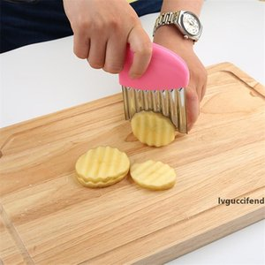 Wavy French Fries Cutter Stainless Steel Potato Slicer Vegetable Chopper Veggie Slicer Durable Kitchen Gadgets Cutter CT0478