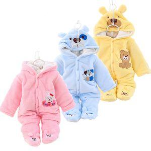 Newborn Baby Clothes Winter Unisex Christmas Rompers Thick Warm Infant Jumpsuit Parkas For Baby Girls Boy Romper Snowsuit 0-12M 1024