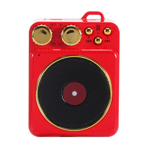 Smart Portable Wireless Speaker Vintage Phonograph Sound Outdoor Wireless Bluetooth 4.2 Speakers For Phone Computers Party T10 30pcs
