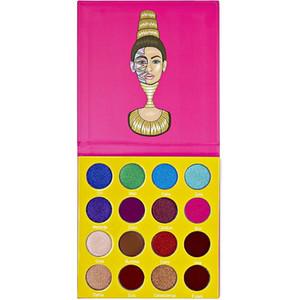 16 Renk sahne arkası göz makyaj metalik su geçirmez mini göz farı palet masquerade makyaj 24g