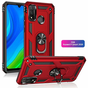 Military Armor Phone Case For Huawei P Smart Y8p Y7p Y6p Y5p 2020 P40 Lite E 5G Nova 5T 2019 Magnetic Metal Ring Coque