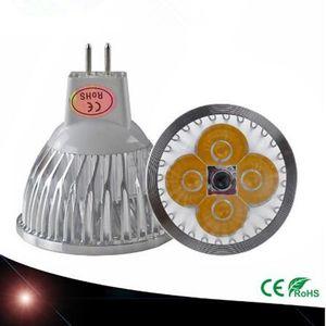 10 PCS chip high-power LED bulb, actual power MR16 3W 4W 5W 12V adjustable LED bulb, warm cold pure white MR16 LED lamp base