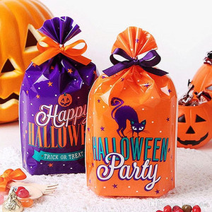 Plastic Gift Bags Halloween Candy Bags Halloween Party Favors Bag Ghost Festival Birthday Party Decorations Supplies