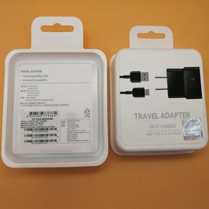 50 Sets lot 5V 2A US EU Plug USB Travel adapter Wall Fast Charger + 1.2M Original Type C Usb Data Cable Retail packaging
