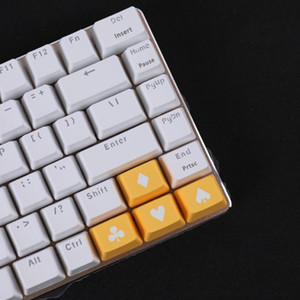 Two-color Molding Poker Design PBT Keycaps For Cherry Mx Switch Mechanical Gaming Keyboard OEM R1 1.25U Direction Arrow Keycaps