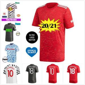 Manchester 2020 2021 RAZZA UMANA COLLEZIONE FERNANDES CAVANI United Soccer Jersey scherza il pullover uomo Football Kit Camicia 20 21 attrezzature Utd