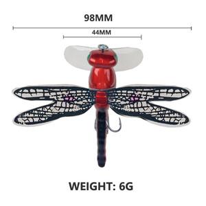 98mm 6g Topwater Libelle Trockenfliegen Insekt Fliegenfischen Köderforellen Popper Künstliche Köder Wobblers Für Trolling Harte Köder