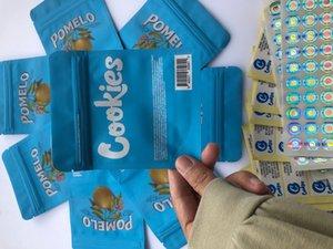 홀로그램 가방 레이블 뒤 및 쿠키 포장 eDibles 블루 pomelo 3.5g 스티커 Mylar 캘리포니아 가방 Bbymz Bdebaby vupgm