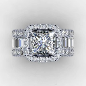 Vintage Lovers Court ring 3ct Diamond 925 Sterling silver Engagement wedding band ring for women men Finger Jewelry Gift