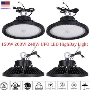 DLC 1 -10V 디 밍이 UFO가 주도 높은 베이 빛 100w 150w 200w 240w LED 홍수 빛 IP65 광업 고 현 램프 스트리트 워크 숍 등