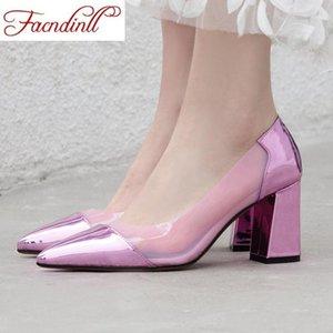 Facndinll Big Size 34-43 2020 Nuova primavera Donne Estate Donne Tacchi alti Pompe Pompe Ragazze Tacchi moda Tacchi donna Dress Dress Pumps1