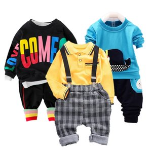 2PC Toddler Baby Boys Clothes Outfit Infant Boy Kids Shirt Tops+Pants Casual Clothing Spring Autumn Children Clothing Set Cotton 201027