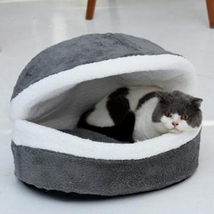 Hamburguesa Bed Kennel Lavable Cálido Cojín Cojín Cat Impermeable Nest Pet Lindo Nest Para Home Pet Puppy Supplies