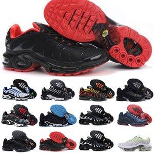 판매 클래식 새로운 TN Mens 신발 검은 흰색 빨간색 TN 플러스 울트라 스포츠 러닝 신발 저렴 한 TNS Requin 농구 디자이너 운동화 T8P2