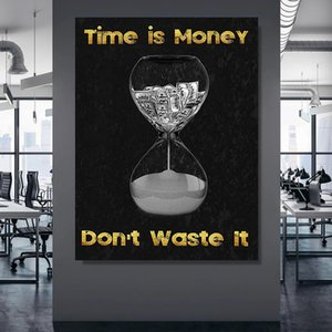 Canvas Art Picture Time Is Money Don't Waste It Prints Wall Poster Modern Home Bedroom Decoration Nordic Modular Painting