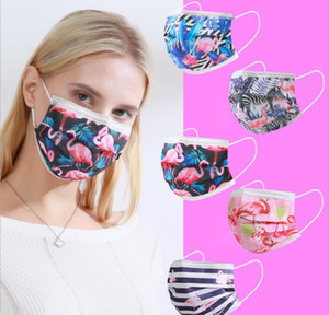 Luxury Designer Printing 3Layer 95% Filtration Efficiency Anti-Dust Disposable Adult Mask Dustproof Prevention of Influenza Face Mouth Masks