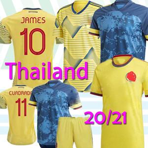 20 21 Copa América Columbia Fußball-Trikot 19/20 Hauptfußball-Hemd # 10 JAMES Männer Fußball-Uniform Short Sleeve Spiel Shirt Verkauf