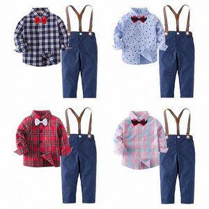 children's outfit flower boy's suit boy's suit boys for wedding kids prom suits boys clothes summer wear boy shirt and pant bM1i#