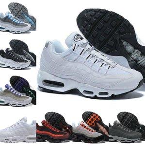 Venda Ultra 95 OG X 20º Aniversário Homens Sapatos Esportivos Triple Néon Preto Solar Luxo Vermelho Designer Air Sola Grey Azul Trainers Designers Sapatos