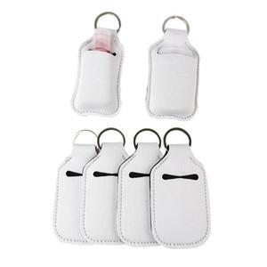 30ml sublimation Neoprene SBR blank hand sanitizer set white perfume bottle holder keychain gift