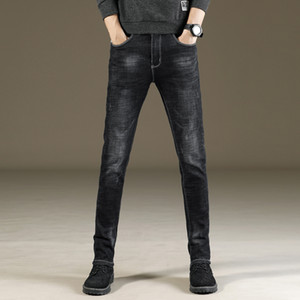 2019 Skinny Denim Men Brand Fashion Classic Slim Straight Pencil Pants Elastic Washed Stretch Black Diesel Jeans Q0109