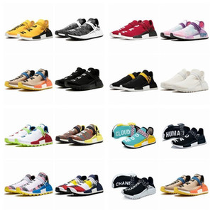 2021 Humano Pharrell Williams Race Races R1 Ténis Mens Running Shoes Womansnmd amarelo núcleo nerd trainers sneakers 36-47 bf5b #