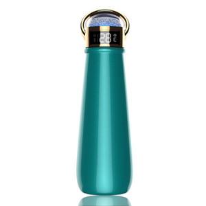 온도 표시 다이아몬드 컵 더블 벽 진공 플라스크 보온병 컵 커피 잔 YYA501 바다 배송 420ml 절연 물 병