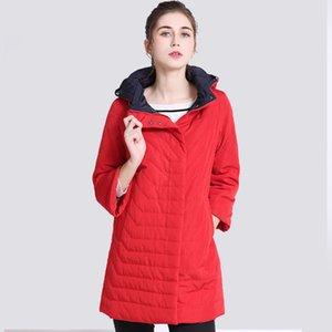 Thin Women's Coat Spring Autumn Women's Fashion Windproof Parkas Female Hood Jacket New Large size Outwear Hot Sale 201023