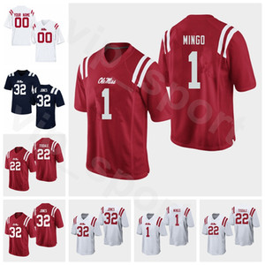 NCAA College Football Ole Miss Rebels 1 Jonathan Mingo Jersey Embroidery 20 Keidron Smith 38 Jaylon Jones 32 Jacquez Jones Tariqious Tisdale