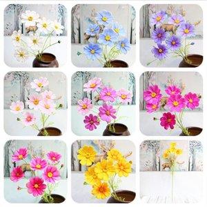 """8Pcs Fake Cosmos (8 heads piece) 32.28"""" Legth Simulation Planting Geranium for Wedding Home Decorative Artificial Flowers"""