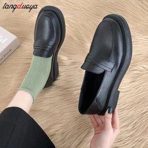 Mary Jane Shoes Girls Japanese School Jk Uniform Accessories Lolita Shoes College Gothic PU Plataforma de cuero de alta calidad Zapato # VS3A