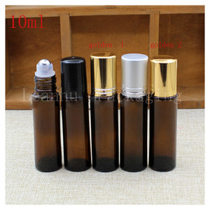 10 ml Brown Glass Ball Bottles, Facial Beauty &Skin Care Exclusive Use Packing Bottle ,Empty Cosmetics Packaging Container