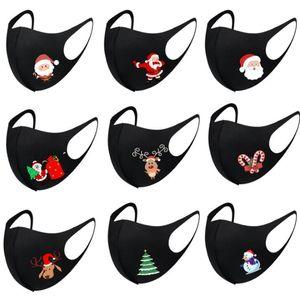 Silk Mask albero Babbo Natale Stampa Maschera maschere di Natale di seta del latte maschere Moda anti polvere faccia lavata traspirante Mask OWC3192