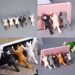 Sucer Titular do Telefone Móvel com Sucção Cup Bonito Animal Modelo Suckers Stand Lazy Man Desktop Testle Vavious Colors 1 4HC B2