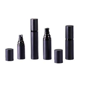 garrafas de bomba de pulverização vazio preto fosco frascos de loção airless como plástico 15 ml 30 ml 50 ml DHC2967 cosmético sub-garrafa