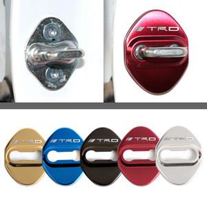Applicare a 4pcs / Set di serratura di portello Protezione coperchio in acciaio inox Accessori interni per Toyota TRD CHR Corolla Ralink Camry Highlander