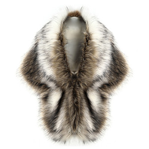 2021 Women Luxury Faux Fur Coat Vest Shawls Wharm Winter Coat Ladies Bridal Wedding White Fur Capes Wrap Jacket chaqueta mujer