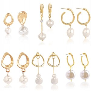 Moda pérola soltar dangle brinco vendendo quente estilo longo estilo barroco temperamento mulheres brincos de jóias de assimetria pingentes 3my g2b