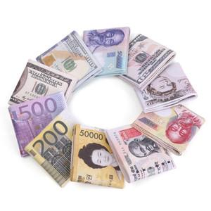New Arrival World Currency Bill Wallet Bifold Pu Money Wallets Short Purse Usd Dollar Pound Card Holder Storage Bag
